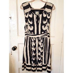 Anthropologie Brushstroke Print Knit Dress